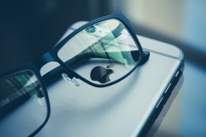 iphone and glasses